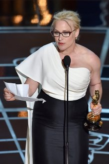 Patricia T. Arquette, actriz estadounidense ganadora del Óscar a Mejor actriz de reparto por su papel en Boyhood.